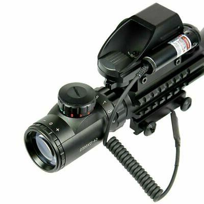 4-12X50 EG Scope with Reticle Sight & Laser