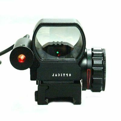 4-12X50 Tactical Scope with Holographic Reticle Sight Laser