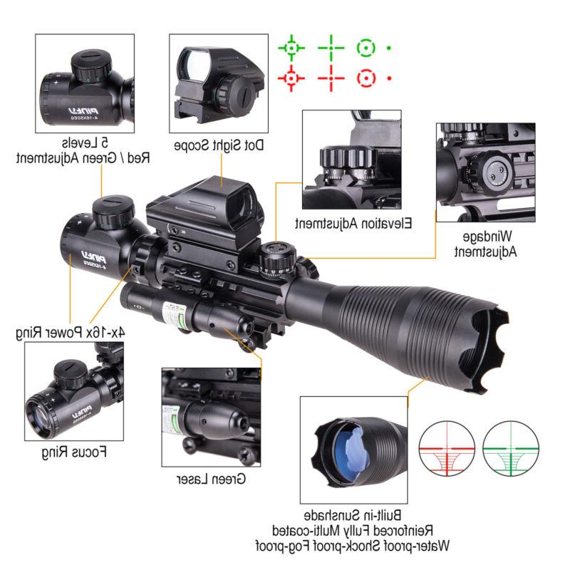 Rangefinder Rifle Combo 4-16x50 Sight Green