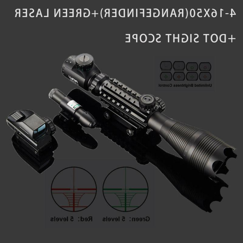 Rangefinder 4-16x50 Reflex Sight