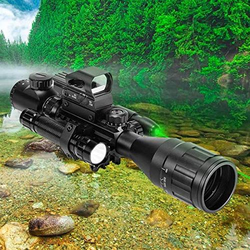 UUQ Scope Finder Reticle Laser and Holographic Dot Sight & Flash