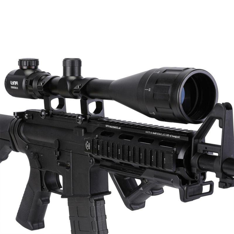 Pinty 6-24x50AO Green Dual Optic Rifle
