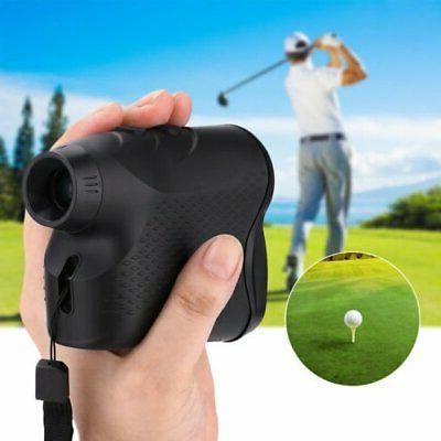 US 600M Golf Laser Range Finder 6X Rangefinder LCD Yardage D