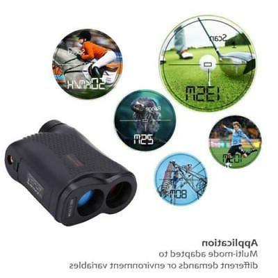 600M 6X Golf Range Finder LCD Yardage Black US