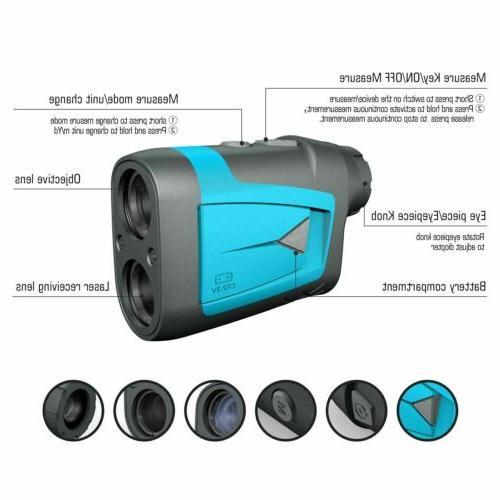 MiLESEEY 650 Yards Laser Golf Rangefinder with Slope Flag Bag