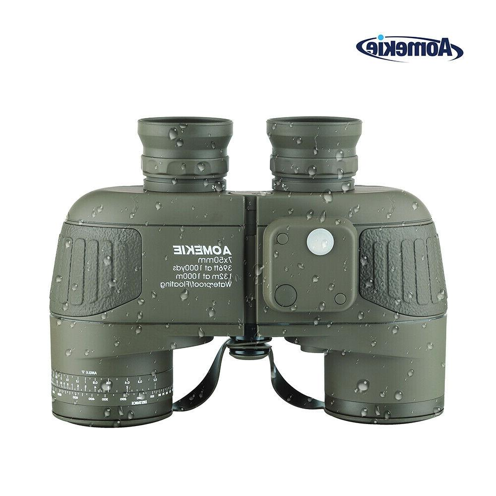 7x50 military binoculars with rangefinder compass