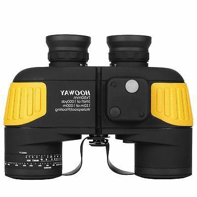 Hooway 7x50 Waterproof Fogproof Military Marine Binoculars w