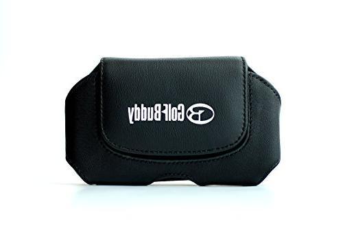 Golf Buddy Leather Holster Accessory, Black, Medium