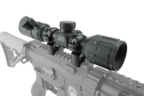 Monstrum 2-7x32 Rifle Scope with Range