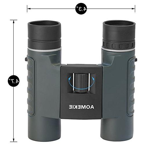 Aomekie Binoculars for Kids Adults 10X25 Mini Folding Telescopes with and Strap Concerts Birdwatching