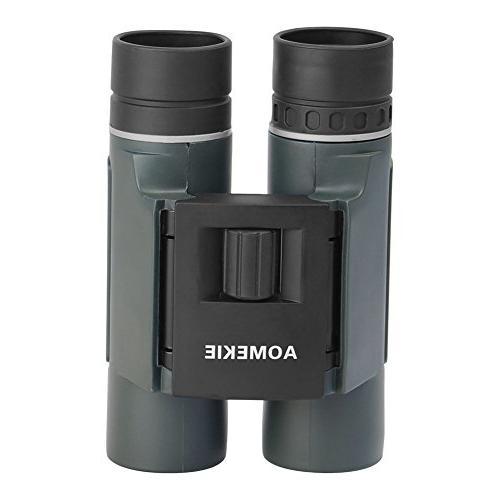 Aomekie Compact Binoculars Kids 10X25 Waterproof Mini Pocket Folding Telescopes and Concerts Birdwatching