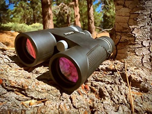 Roxant High Long Binoculars for 10x42 Weatherproof Metal Case & Accessories