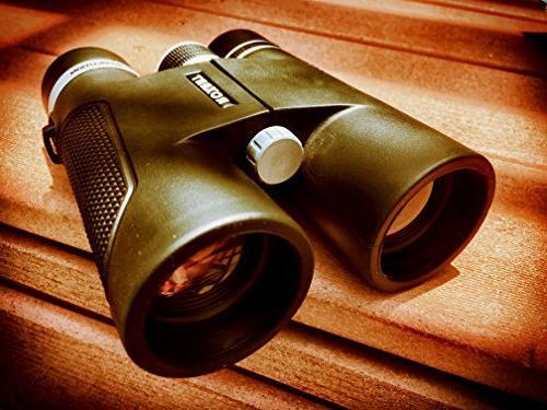 Roxant High Definition Range Binoculars | 10x42 Shockproof, Dust Weatherproof Rubber Metal Alloy + Case &