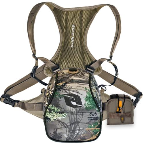 binocular system combo with rangefinder pouch realtree