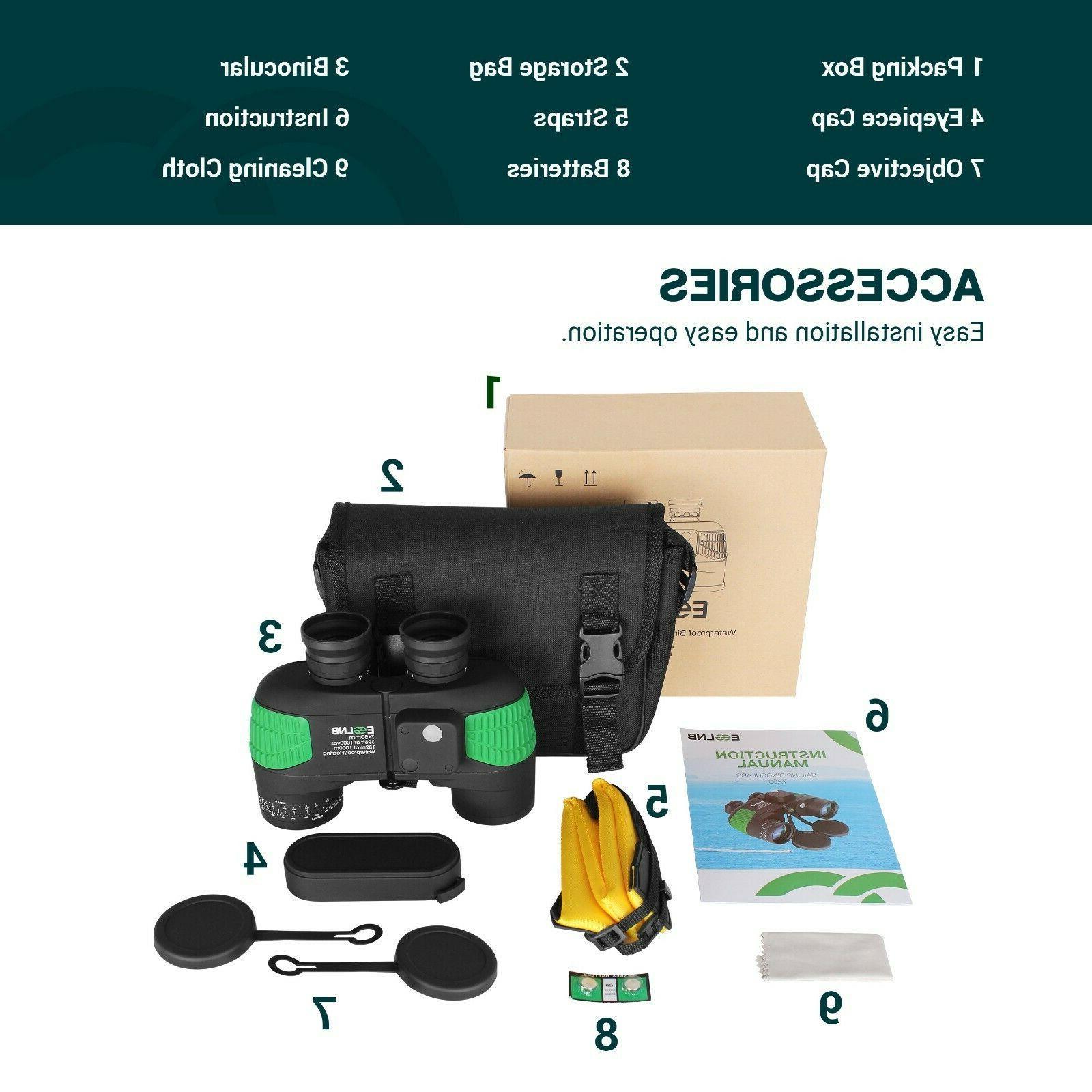 Binoculars 7X50 Boating HD