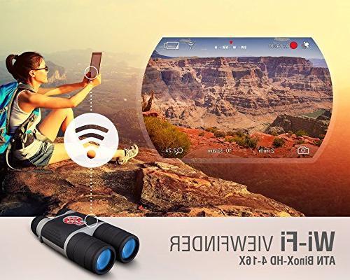 ATN BinoX 4-16 Binocular w/ 1080p Night Image IOS Android
