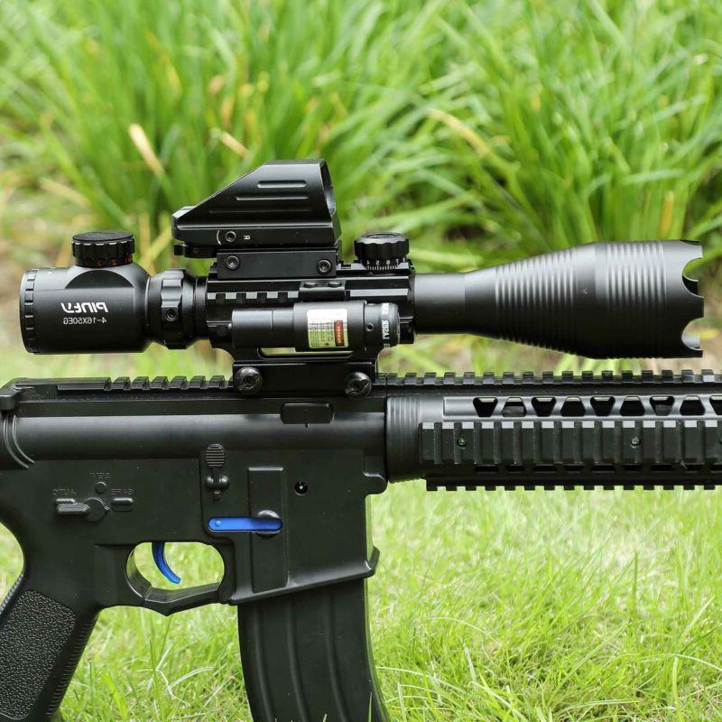Pinty 4-16x50 Rifle Scope Holographic Reflex Dot Sight