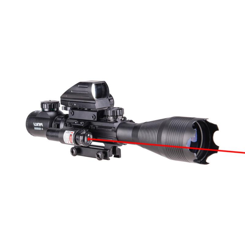 Pinty 4-16x50 Rifle Scope Holographic Dot Sight Red