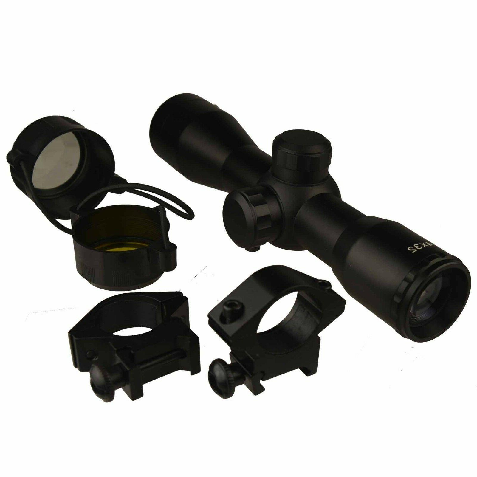 Field Compact .223 7.62x39 Tactical Scope With Ring