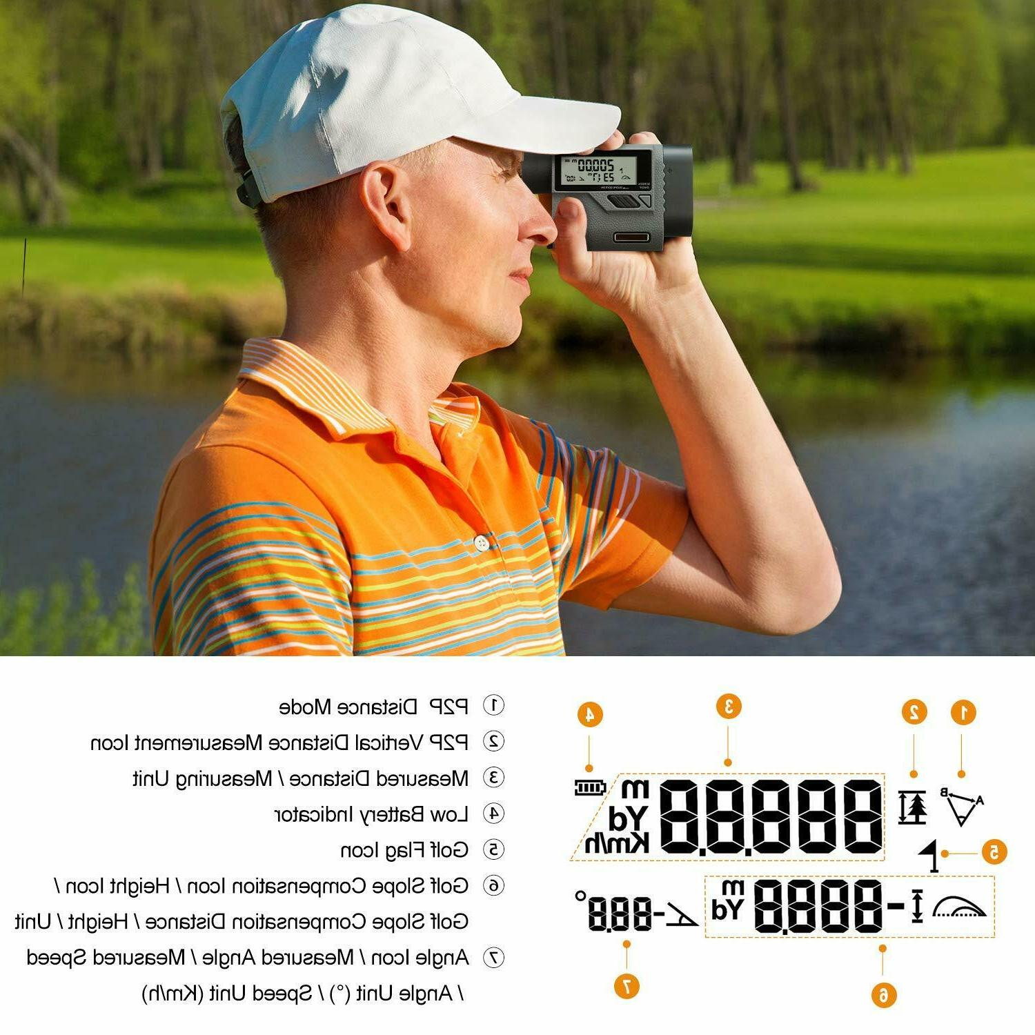 SUAOKI Rangefinder Yards Laser Range Finder Flag-Lock, Speed/Distance/A