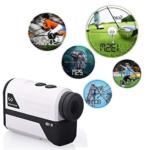 Wosports Yards Laser Range with Slope, Distance/Speed/Angle Measurement