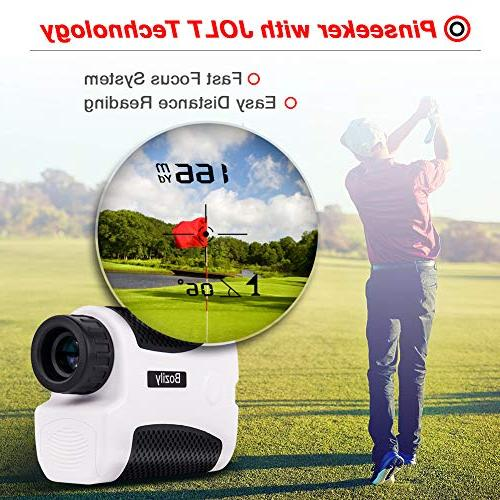 Bozily Golf Laser Yards, Slope 4 Scan & & Speed Measurement, Fog Resistant - Tournament Legal Golf Rangefinder