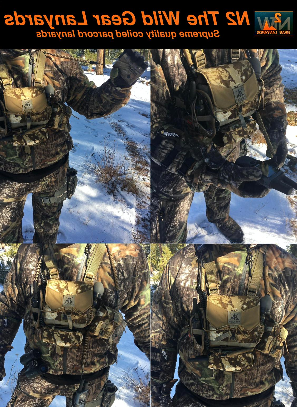 Hunting Coyote GPS harness coiled paracord