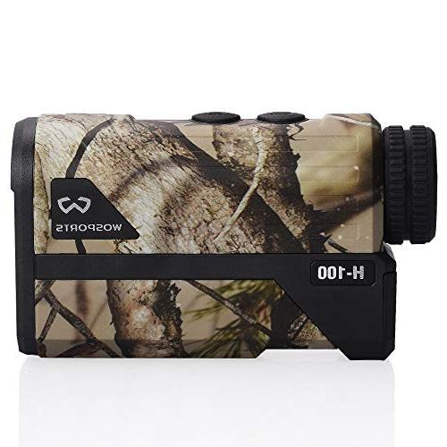 Wosports Hunting Range Finder, Upgraded Laser Rangefinder Archery Hunting Ranging, Lock, Speed - Free