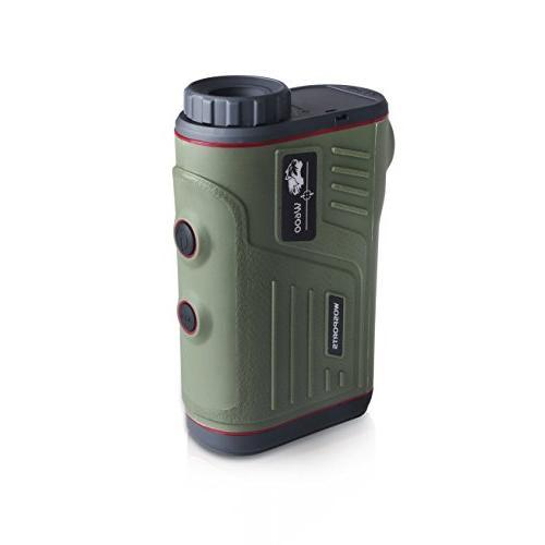Wosports Rangefinder, Range with and