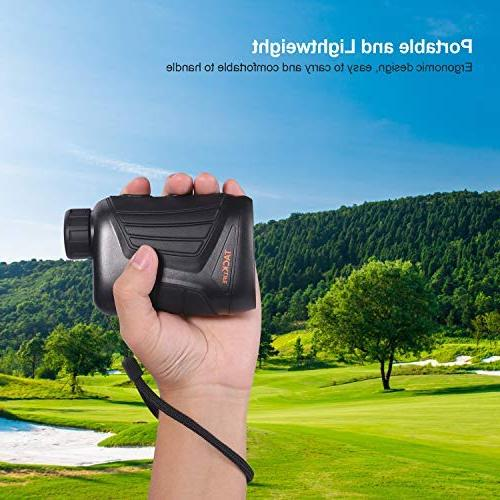 Hunting Rangefinder 900 Yard, Laser with Range/Speed/Scanning Model, Charging Cable, Carrying Case, 1/4'' Thread Outdoor