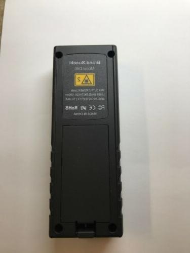 Suaoki Laser D40 meters Range Finder w/Level Bubble