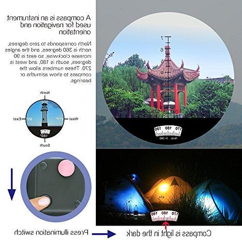 HD Binoculars with Rangefinder Compass -