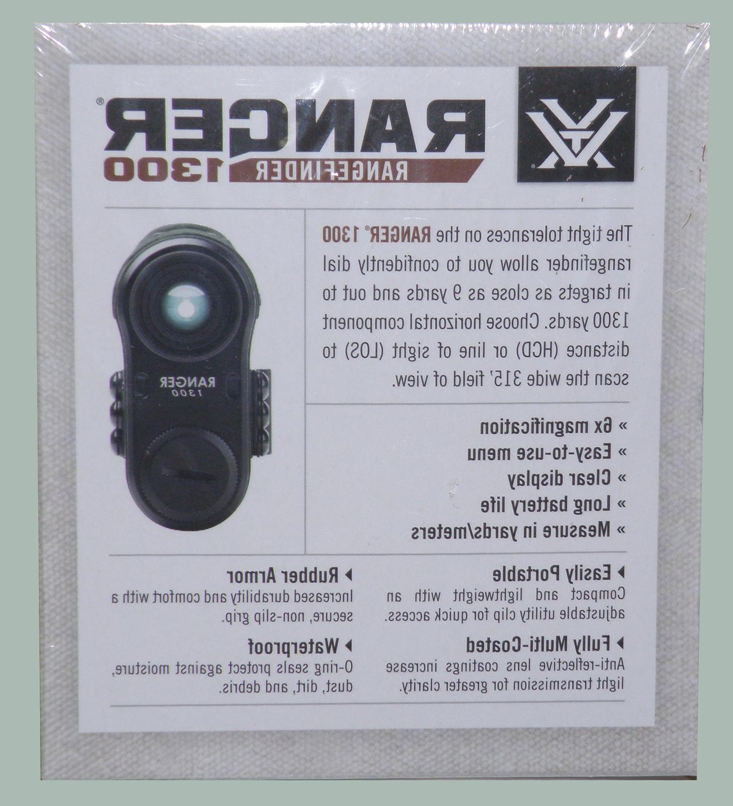 Vortex Optics Laser Rangefinder 1300 Hunting-Shooting RRF-131
