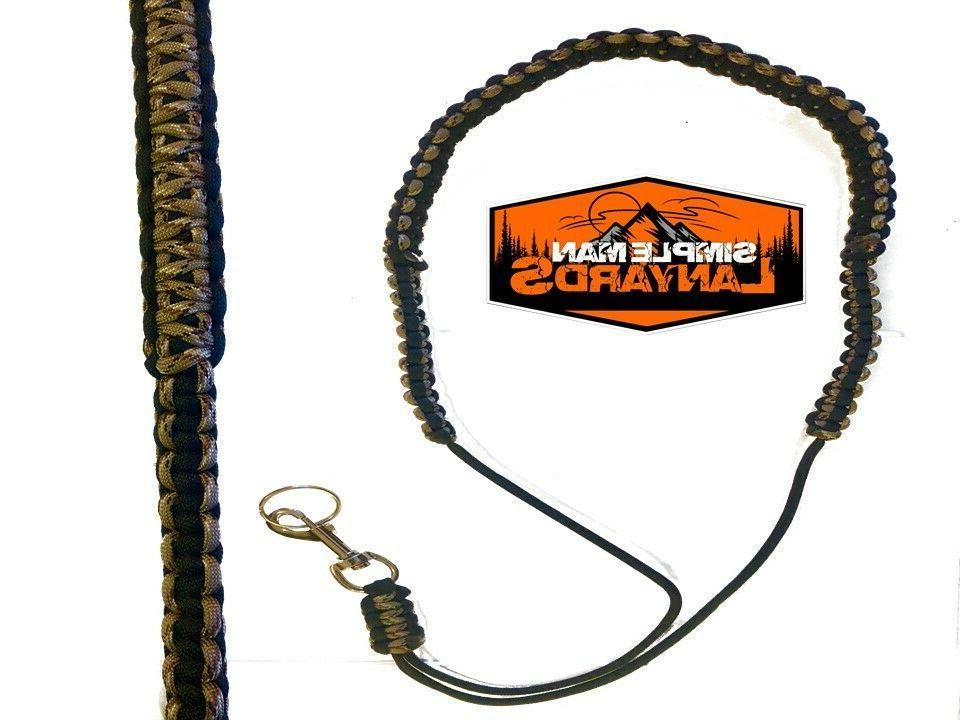rangefinder paracord neck lanyard black and desert