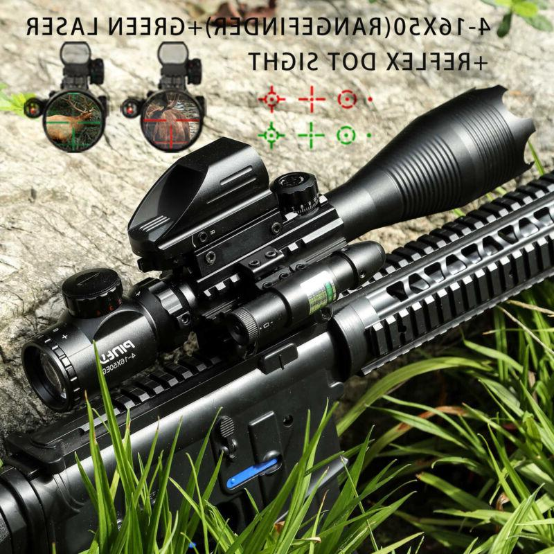 rangefinder rifle scope combo 4 16x50 holographic