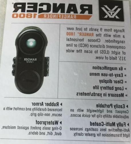 Vortex 1800 Laser Rangefinder