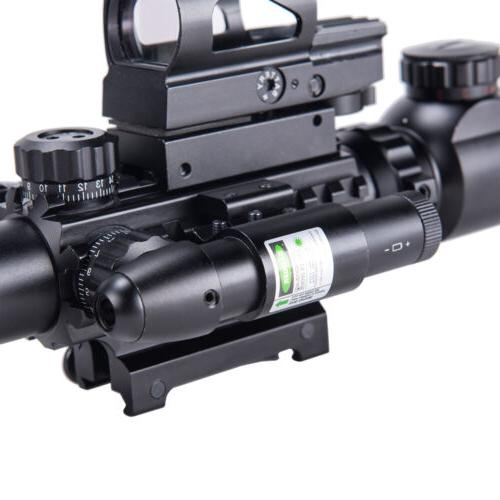 Rifle 4-16x50 w.Holographic Reticle Sight & Green Laser Combo New