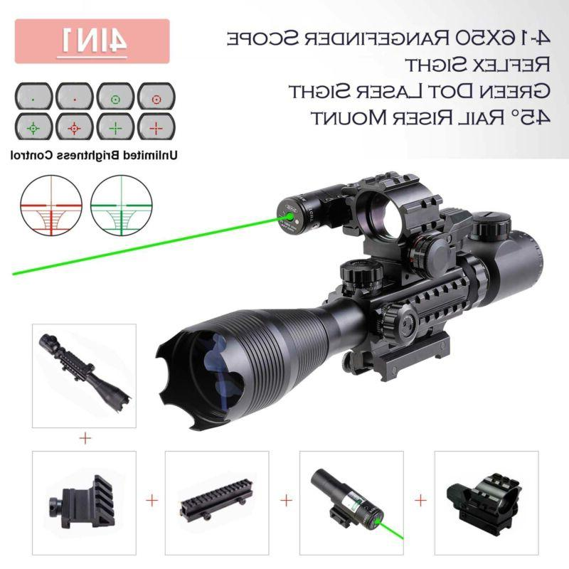 rifle scope 4 16x50 illuminated reticle w