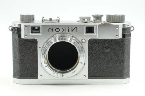 s rangefinder film camera body chrome 827