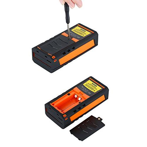 SUAOKI Distance Measure, Laser with 2 Levels,Pythagorean Mode and Area, Calculation Tape Measure