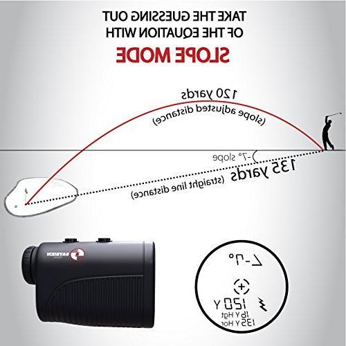 Saybien Rangefinder with USB Charging Golf Finder Laser Finder - - Accurate up 1,200 1,300 - Mode Flag