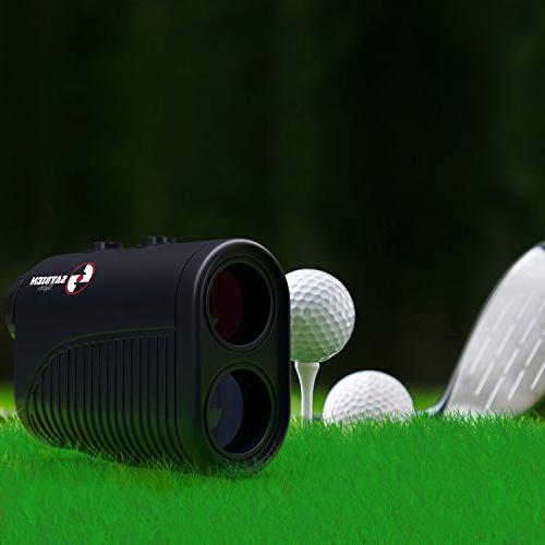 Saybien Rechargeable with Slope - 1200m USB Charging Golf Finder Laser Range Finder - - 1,200 - Scan Flag Lock