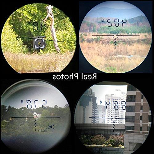 LaserWorks Rangefinder 600 Digital Rangefinder Scope with Screen Perfect Hunting Monocular Shot, Angle,Fog mode