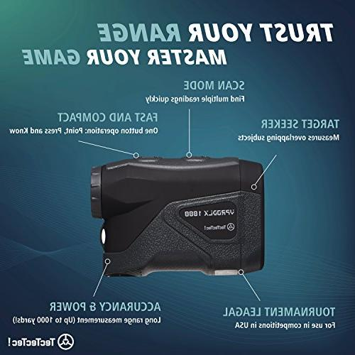 TecTecTec VPRO DLX 1K Golf Rangefinder Black Color