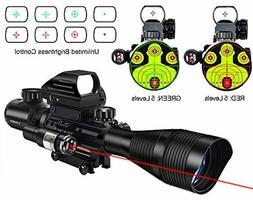 Midten 4-12X50 Dual Illuminated Scope With Dot Sight Laser S