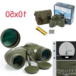 Military 10x50 Optics Binoculars Night Vision Rangefinder Te