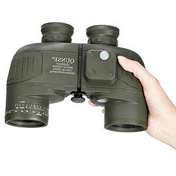 QUNSE Military HD Binoculars for Bird Watching, with Compass