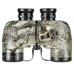 BNISE Military HD Binoculars - Navigation Compass and Rangef