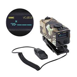 BOBLOV 700m Mini Rifle Scope Mounted Range Finder Tactical O