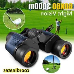 New 60X60 Binoculars with Night Vision Rangefinder Compass W